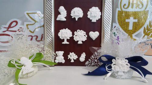 Gessetti varie figure compresi di confezione bomboniera