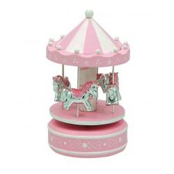 Giostra con 4 cavallini rosa e celeste