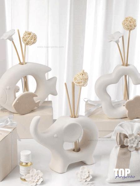 Bomboniera Profumatore in ceramica bicolor