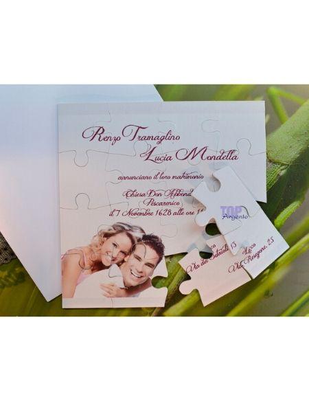 PartecipazionI matrimonio puzzle