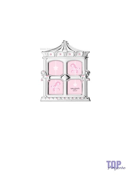 Valenti & co. Cornice Sagomata Carillon Rosa Celeste