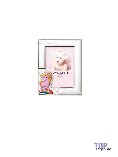 Valenti & co. Cornice Unicorno Rosa Celeste