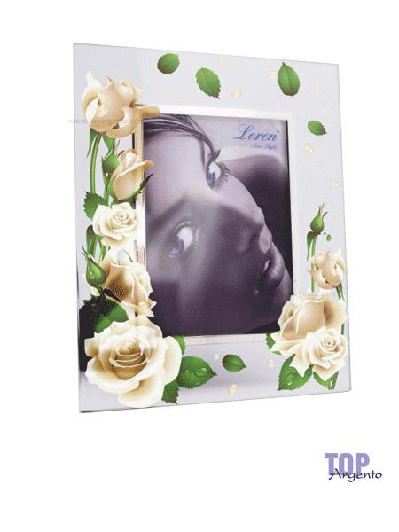 Loren New Style Cornice Rose in Cristallo