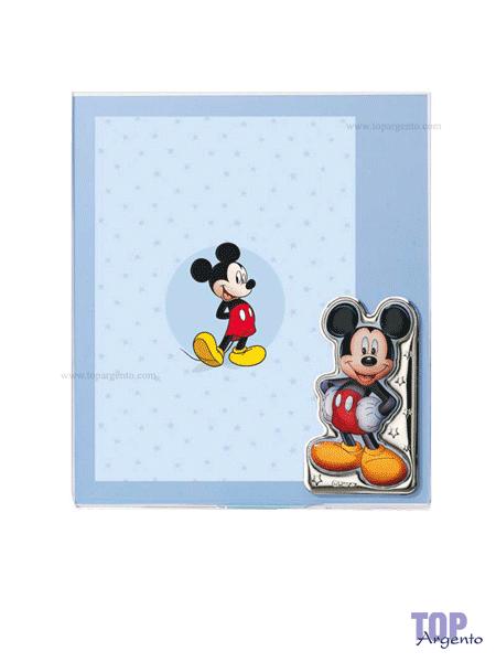 Valenti & Co Cornice Personaggi Disney Argento
