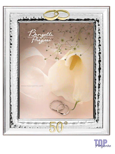 Bongelli Preziosi Cornice Fedi 50° Anniversario Pierre Cardin