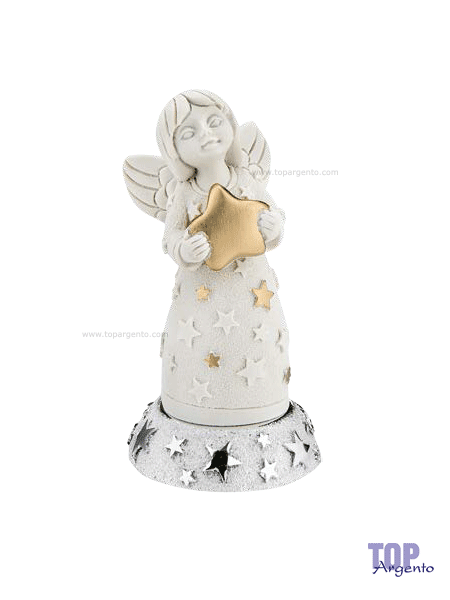 Bongelli Preziosi Statuetta Angeli con base Argento Collezione Natale