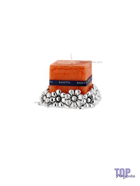 Bagutta Argenti Porta Candele Margherite Arancione Grande
