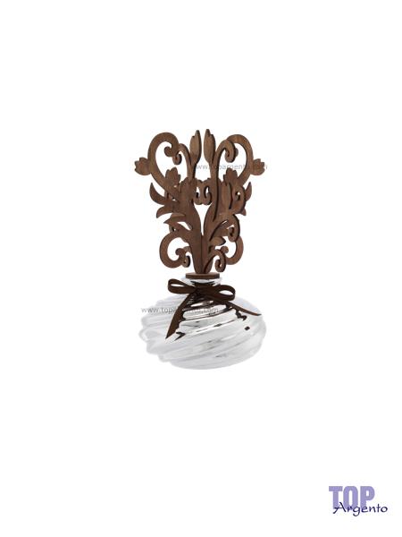 Bagutta Argenti Profumatore Diffusore Vasetto Pianta Legno Stilizzato