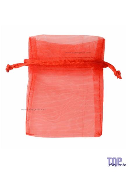 Etm Sacchetti Bag Organza con Tirante Rosso