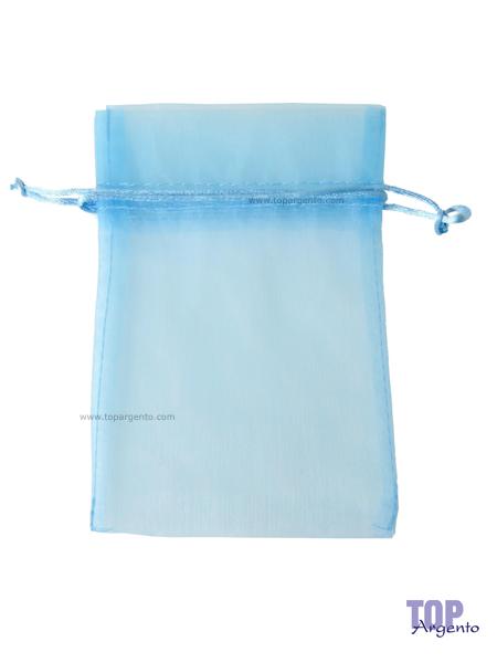 Etm Sacchetti Bag Organza con Tirante Celeste Alto
