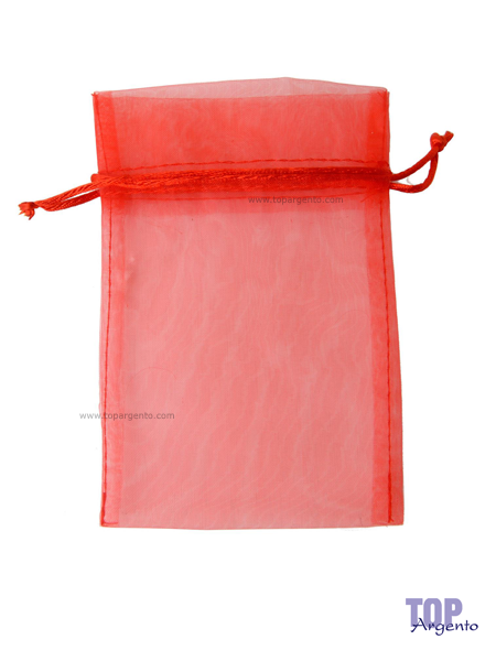 Etm Sacchetti Bag Organza con Tirante Rosso Alto