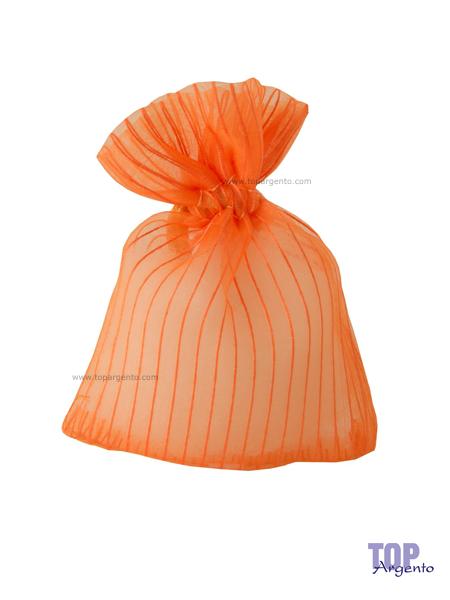 Etm Sacchetti Lilia Bag Righe Arancio