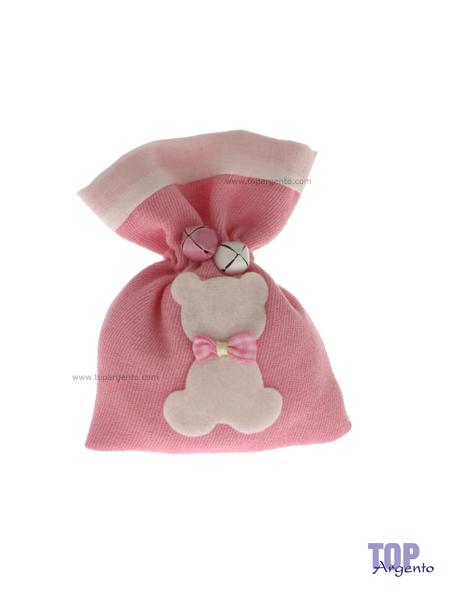Etm Sacchetti Bear Bag Rosa