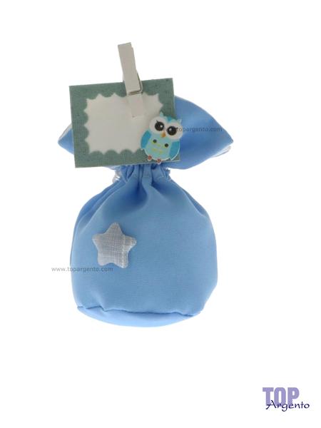 Etm Sacchetti Star Bag Palla Celeste