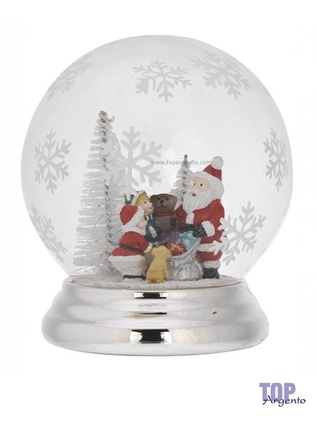 Bagutta Argenti Sfera Led Alberi Babbo Natale con Bambini