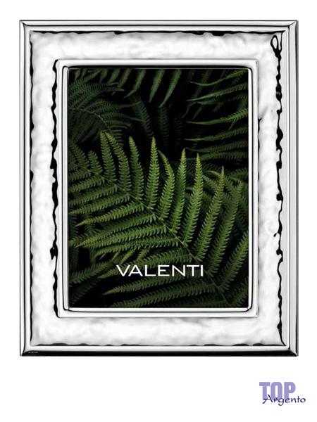Valenti Argenti Cornice Lucida Martellata Argento Laminato 9×13