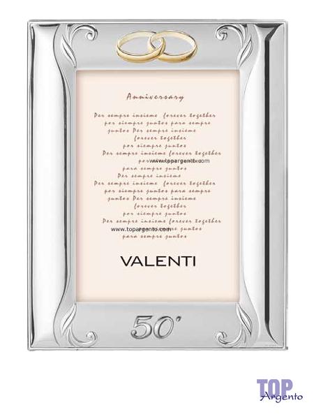 Valenti Argenti Cornice Satinata Nozze Oro Anniversario 18×24